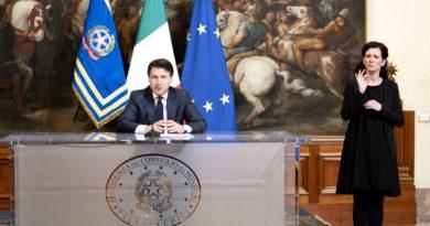 Palazzo Chigi, 21/03/2020 - Il Presidente del Consiglio, Giuseppe Conte, ha annunciato le nuove misure per contrastare e contenere il diffondersi del virus Covid-19