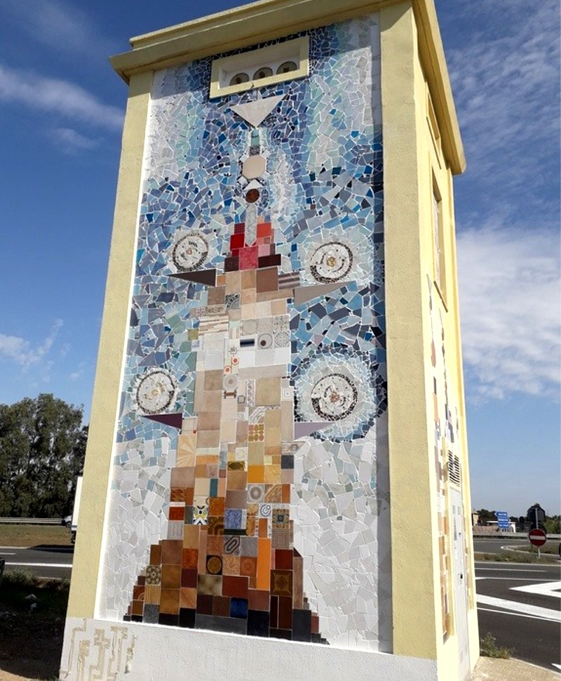 """Il murale """"L'albero della vita"""" a Decimomannu"""