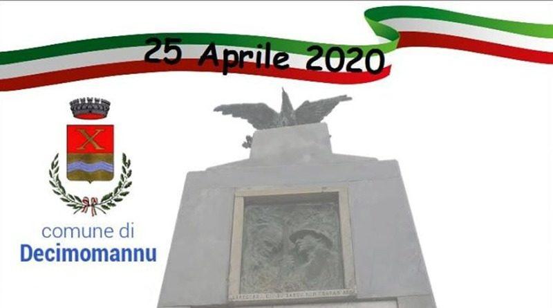 25 aprile 2020 Festa della Liberazione Comune di Decimomannu