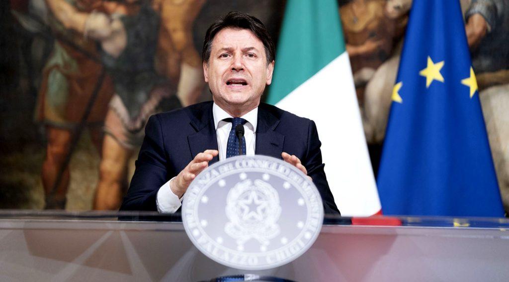 Palazzo Chigi, 01/04/2020 - Il Presidente del Consiglio, Giuseppe Conte, in conferenza stampa