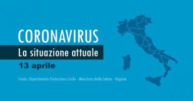 Coronavirus, punto 13 aprile 2020