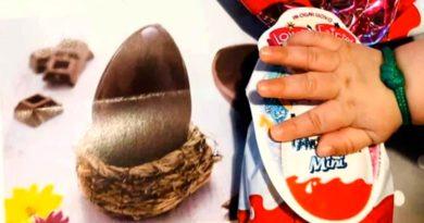 Uovo di Pasqua a bambino di tre mesi Villaspeciosa