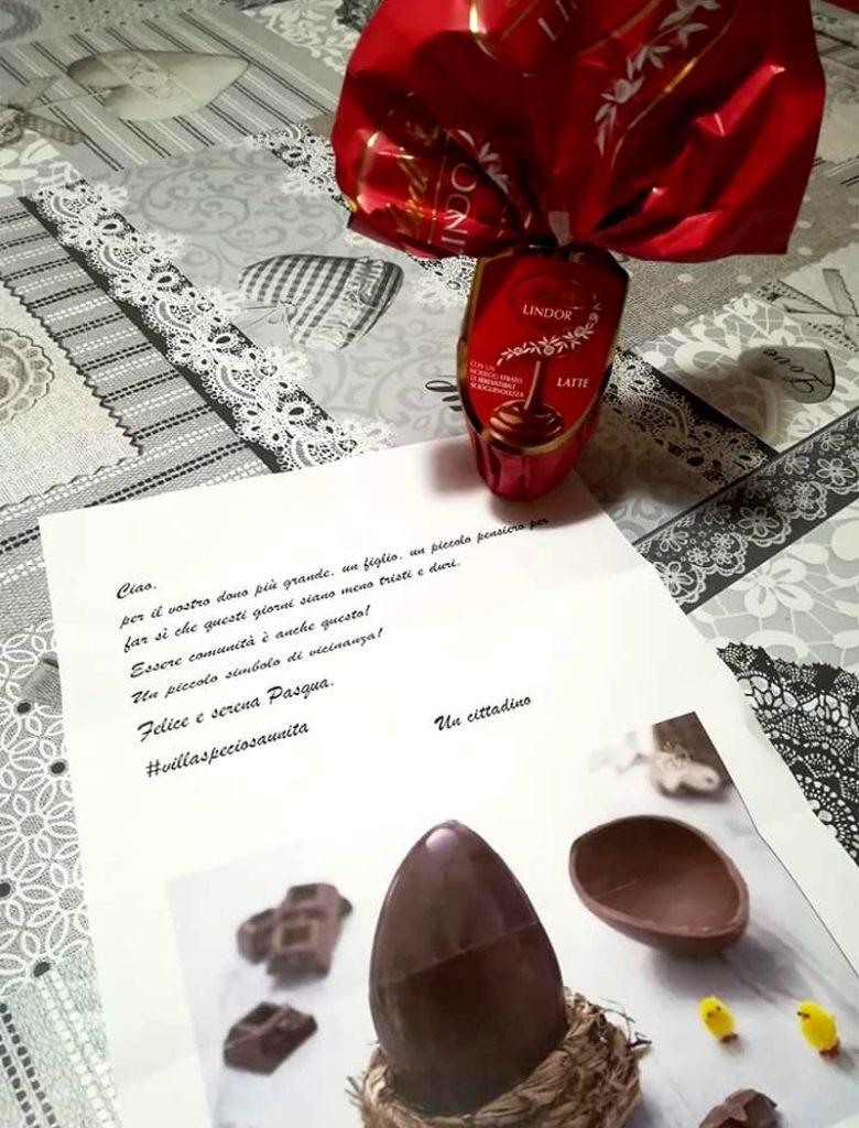 Uovo di Pasqua e lettera Villaspeciosa - foto di Sara Curreli