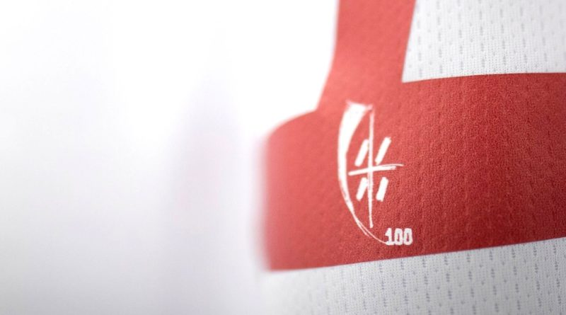 Logo retro maglia Centenario Cagliari Calcio