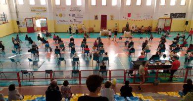 Messa al Palazzetto dello sport di Decimomannu