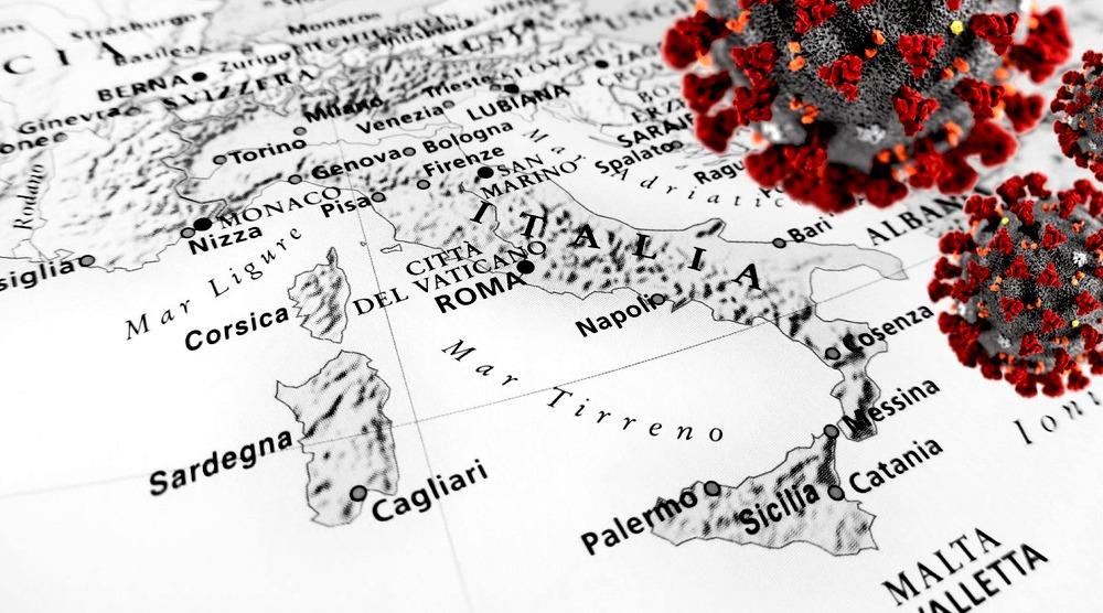 Cartina antica Italia coronavirus