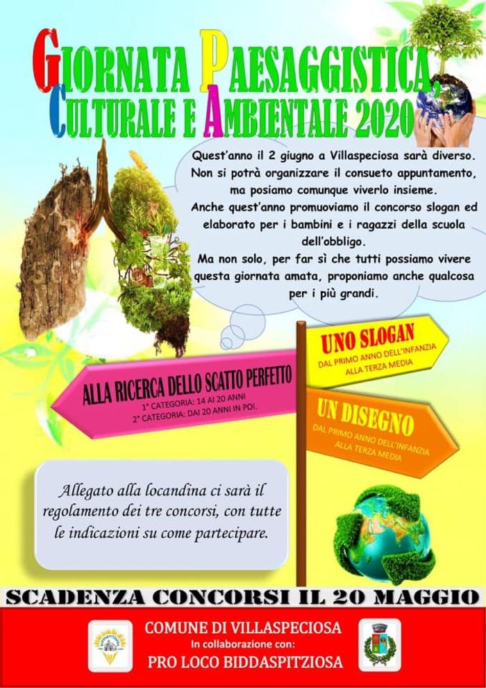 """Locandina """"Giornata Paesaggistica Culturale e Ambientale 2020"""""""