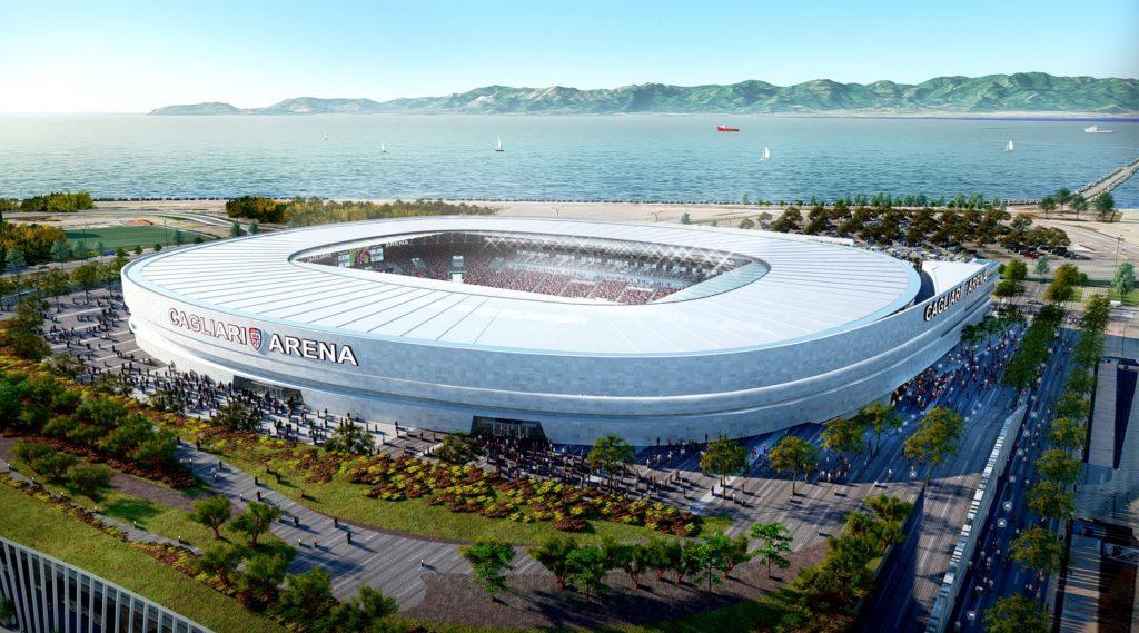 Nuovo stadio Cagliari - progetto Sportium