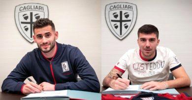 Presentazione Cagliari Calcio Paloschi e Pereiro