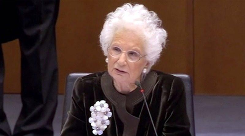 Liliana Segre al Parlamento Europeo