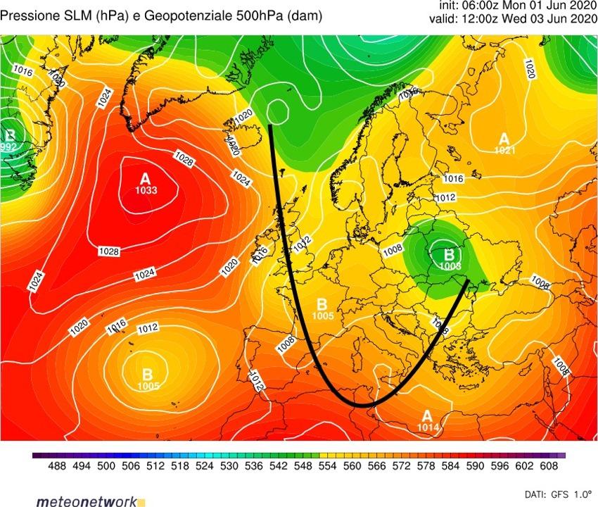 Previsioni meteo dal 1° al 7 giugno 2020