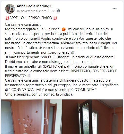 Post Sindaca Marongiu
