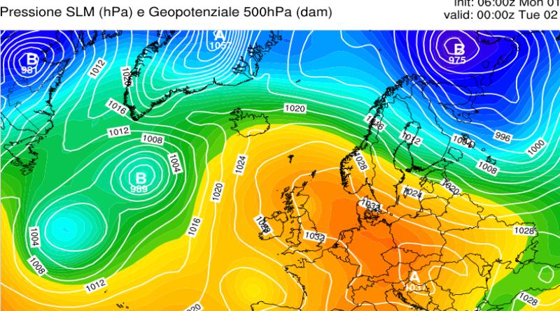 Tendenza meteo dal 1 al 7 marzo 2021